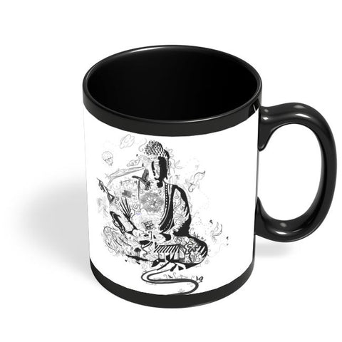 'Bee' Buddha Black Coffee Mug Online India