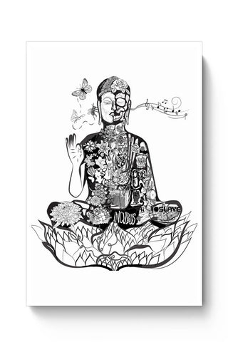 Buy Calm in bloom - Buddha remixed Poster