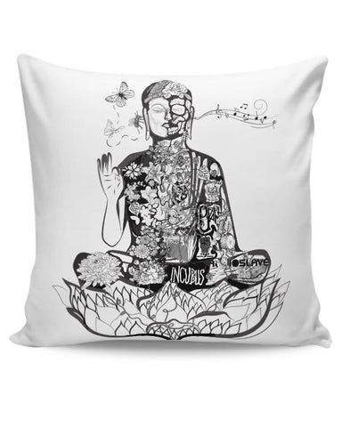 Calm in bloom - Buddha remixed Cushion Cover Online India
