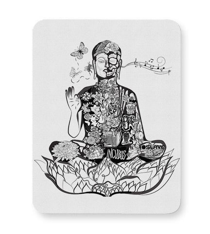 Calm in bloom - Buddha remixed Mousepad Online India