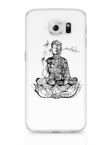 Calm in bloom - Buddha remixed Samsung Galaxy S6 Covers Cases Online India