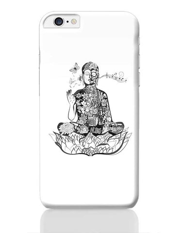 Calm in bloom - Buddha remixed iPhone 6 Plus / 6S Plus Covers Cases Online India