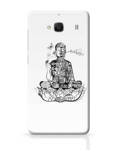 Calm in bloom - Buddha remixed Redmi 2 / Redmi 2 Prime Covers Cases Online India