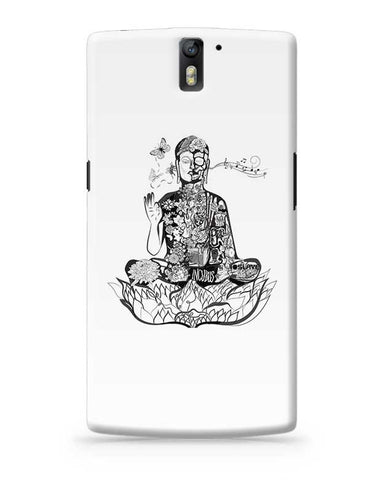 Calm in bloom - Buddha remixed OnePlus One Covers Cases Online India
