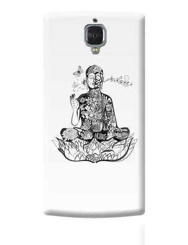 Calm in bloom - Buddha remixed OnePlus 3 Covers Cases Online India
