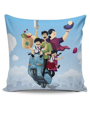 PosterGuy | Indian Family Cushion Cover Online India