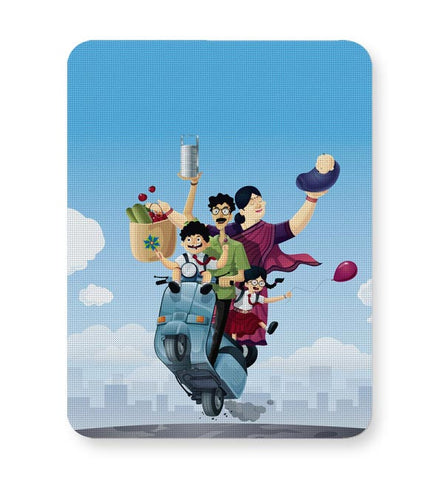 Buy Mousepads Online India | Indian Family Mouse Pad Online India