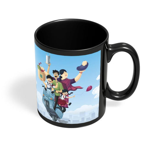 Coffee Mugs Online | Indian Family Black Coffee Mug Online India