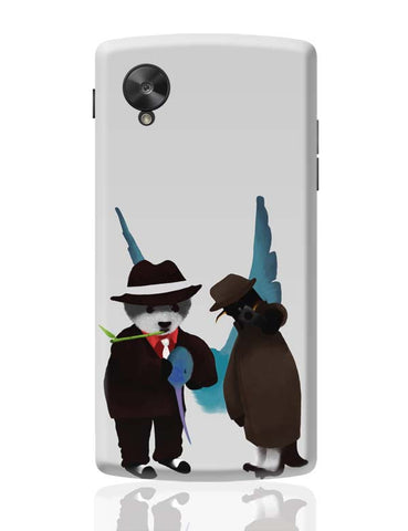 Google Nexus 5 Covers | The Panda, Penguin And The Hummingbird Google Nexus 5 Case Cover Online India