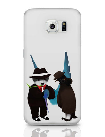 Samsung Galaxy S6 Covers | The Panda, Penguin And The Hummingbird Samsung Galaxy S6 Case Covers Online India
