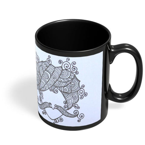 Coffee Mugs Online | Rajasthani Men Black Coffee Mug Online India