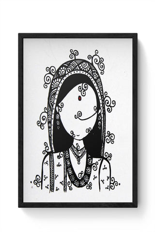 Rajasthani Woman Framed Poster Online India