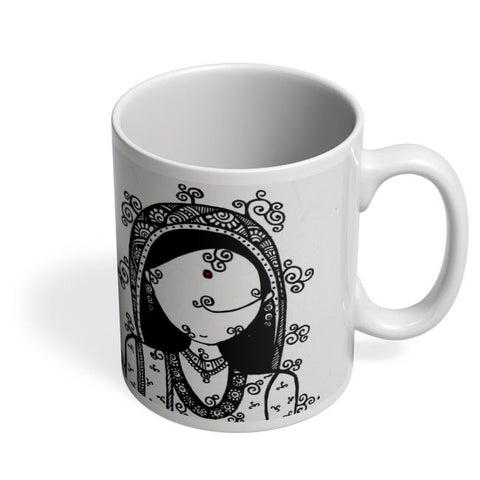 Coffee Mugs Online | Rajasthani Woman Coffee Mug Online India