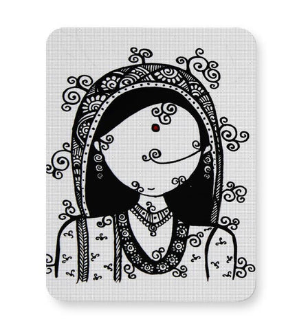 Rajasthani Woman Mousepad Online India