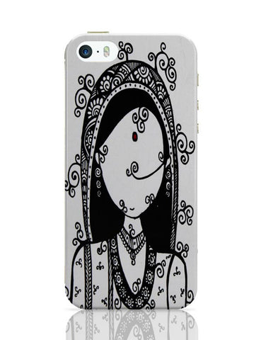 iPhone 5 / 5S Cases & Covers | Rajasthani Woman iPhone 5 / 5S Case Cover Online India