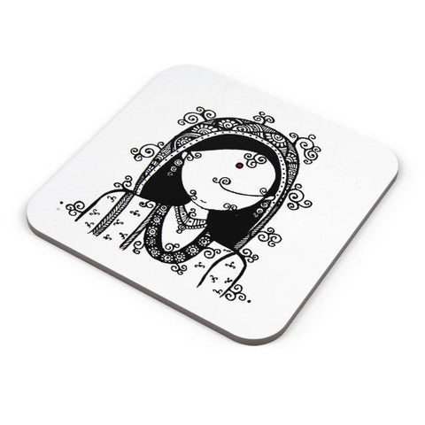 Buy Coasters Online | Rajasthani Woman Coasters Online India | PosterGuy.in