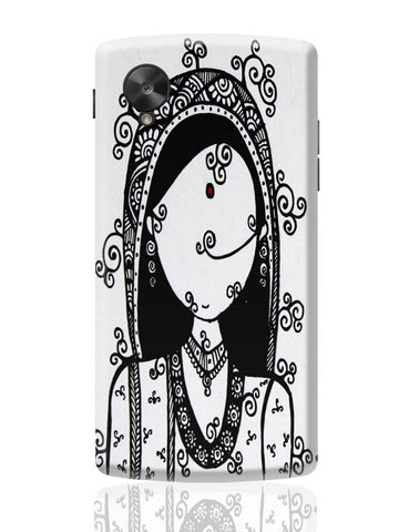 Google Nexus 5 Covers | Rajasthani Woman Google Nexus 5 Case Cover Online India
