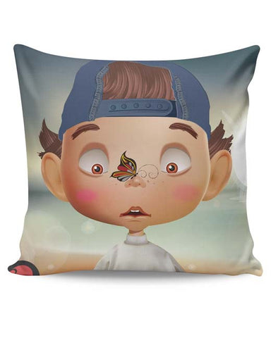 PosterGuy | Butterfly On Nose - Rachyeta Cushion Cover Online India