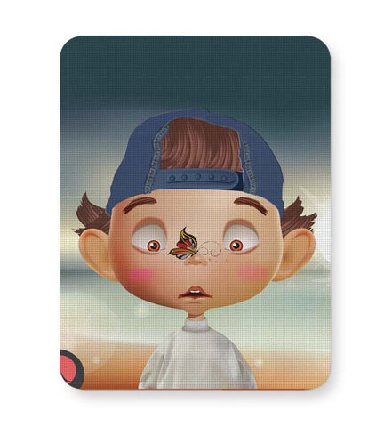 Buy Mousepads Online India | Butterfly On Nose - Rachyeta Mouse Pad Online India