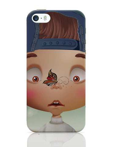 iPhone 5 / 5S Cases & Covers | Butterfly On Nose - Rachyeta iPhone 5 / 5S Case Online India