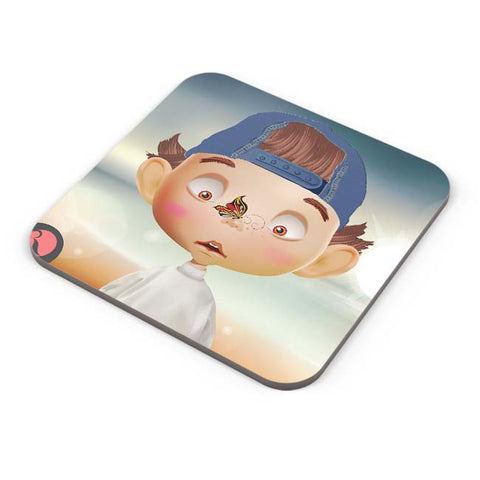 Buy Coasters Online | Butterfly On Nose - Rachyeta Coaster Online India | PosterGuy.in