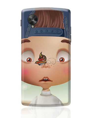 Google Nexus 5 Covers | Butterfly On Nose - Rachyeta Google Nexus 5 Case Cover Online India