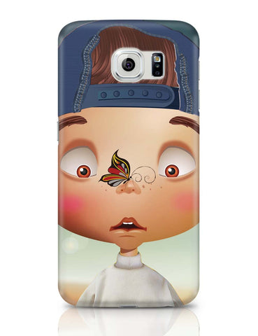 Samsung Galaxy S6 Covers | Butterfly On Nose - Rachyeta Samsung Galaxy S6 Covers Online India