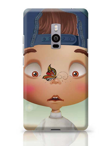 OnePlus Two Covers | Butterfly On Nose - Rachyeta OnePlus Two Case Cover Online India
