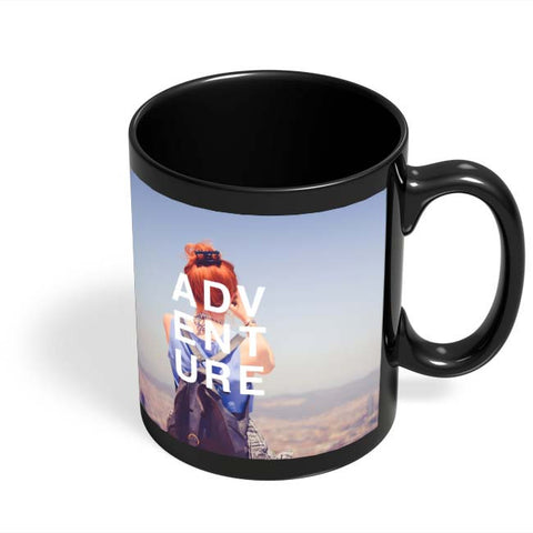 Coffee Mugs Online | Adventure Black Coffee Mug Online India