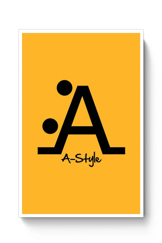 Posters Online | Letter A Style Poster Online India | Designed by: Ankur Chitlangia