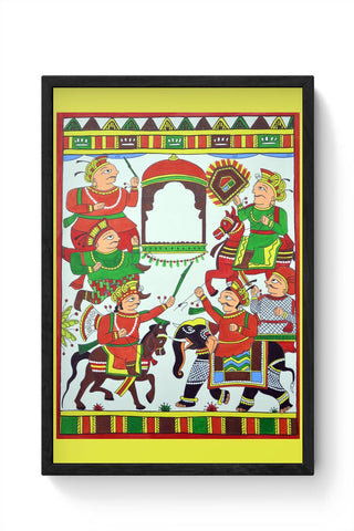Phad Painting Framed Poster Online India