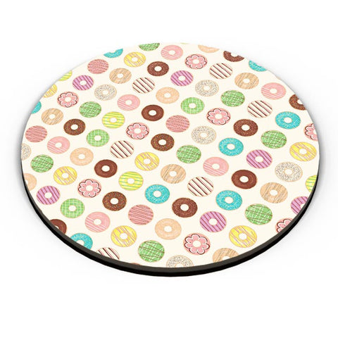 donut, donuts, food, sweets, donut love, donut pattern Fridge Magnet Online India