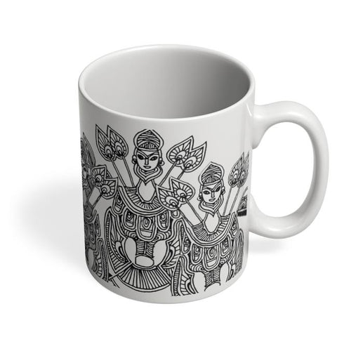 Coffee Mugs Online | Dokra Art Coffee Mug Online India