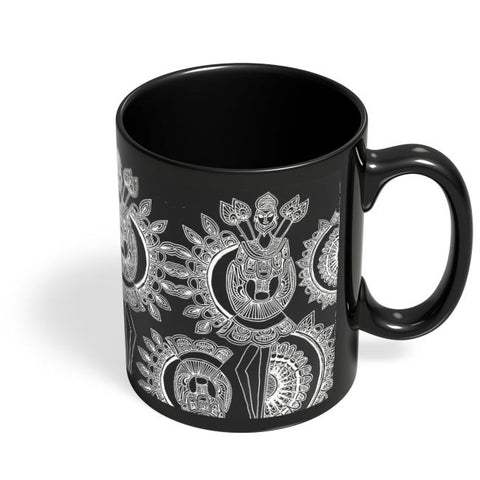Coffee Mugs Online | Dokra Art Black Coffee Mug Online India