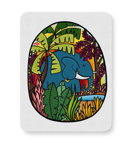 Buy Mousepads Online India | The Early Morning Elephant! Mouse Pad Online India