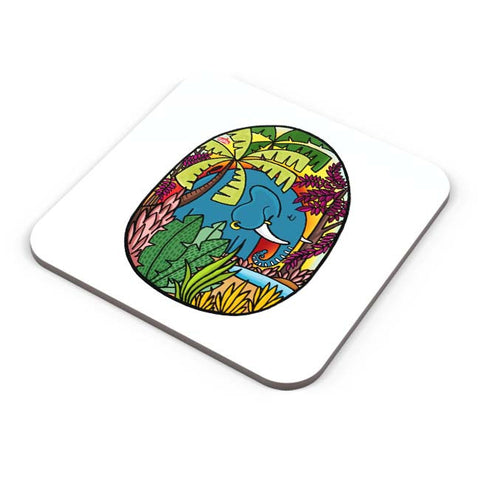 Buy Coasters Online | The Early Morning Elephant! Coaster Online India | PosterGuy.in