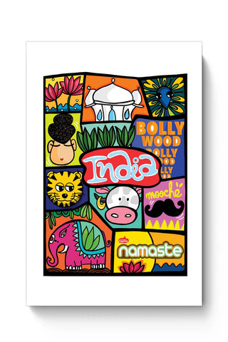 Posters Online | Namaste India Poster Online India | Designed by: DoodleWoodle