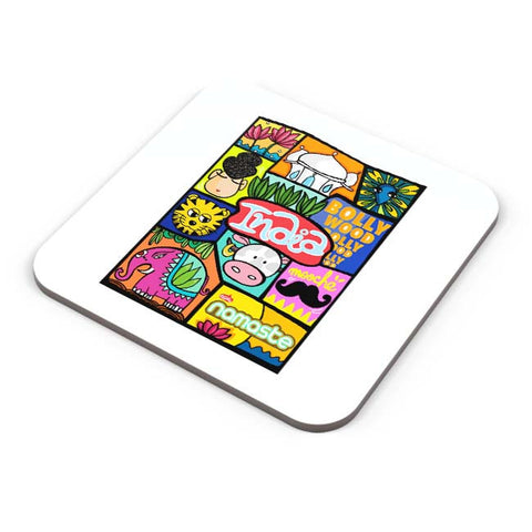 Buy Coasters Online | Namaste India Coaster Online India | PosterGuy.in