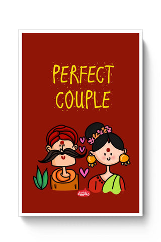 Posters Online | Perfect Desi Couple! Poster Online India | Designed by: Woodle Doodle