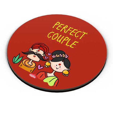 PosterGuy | Perfect Desi Couple! Fridge Magnet Online India by Woodle Doodle
