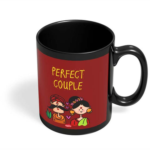 Coffee Mugs Online | Perfect Desi Couple! Black Coffee Mug Online India