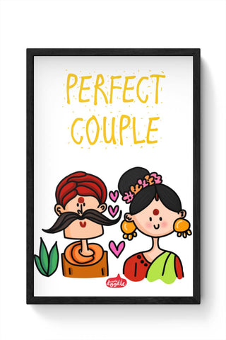 Framed Posters Online India | Perfect Desi Couple! Framed Poster Online India