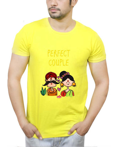 Buy Perfect Desi Couple! T-Shirts Online India | Perfect Desi Couple! T-Shirt | PosterGuy.in