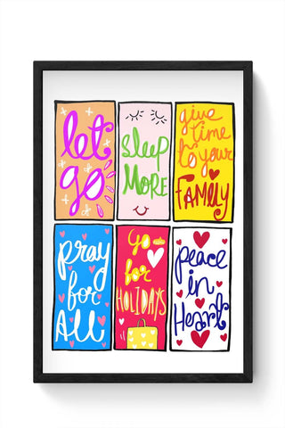 Framed Posters Online India | To Do List Framed Poster Online India
