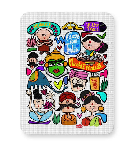 Buy Mousepads Online India | Faces Of India Mouse Pad Online India