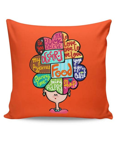 PosterGuy | What's In My Mind? Cushion Cover Online India