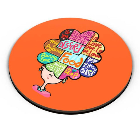 PosterGuy | What's In My Mind? Fridge Magnet Online India by Woodle Doodle