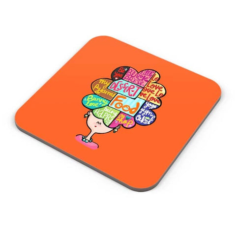 Buy Coasters Online | What's In My Mind? Coaster Online India | PosterGuy.in