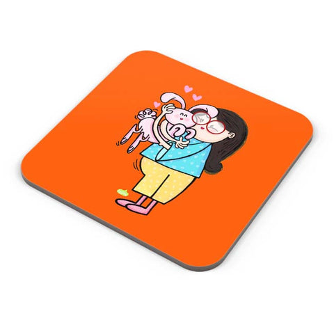 Buy Coasters Online | Bunny Love Coaster Online India | PosterGuy.in
