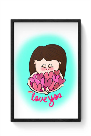 Framed Posters Online India | Love You Framed Poster Online India